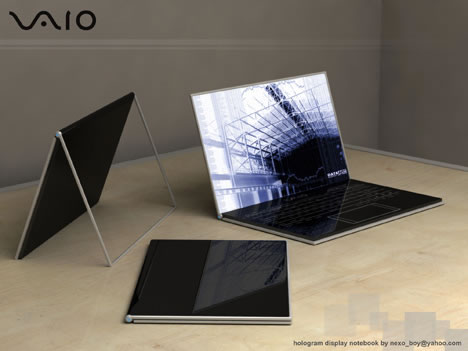 Holographisches Vaio Notebook