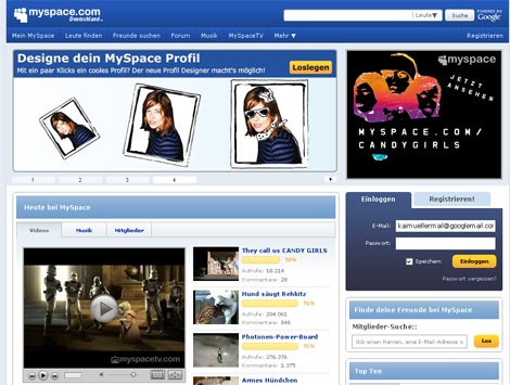 MySpace.com hat gerelauncht