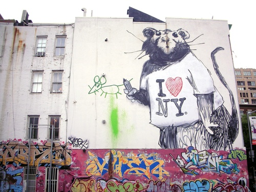 Banksy in Soho, NYC | StyleSpion