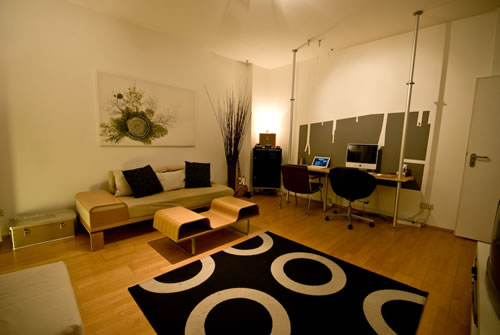 design in nanopics design 2 zimmer wohnung. Black Bedroom Furniture Sets. Home Design Ideas