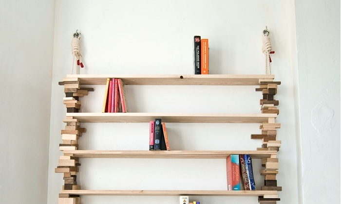 Blockshelf Amy Huntings Bcherregal Aus Holzblcken